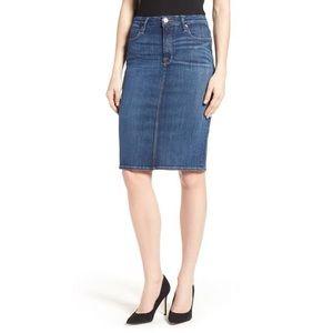 Good American High Rise Denim Pencil Skirt